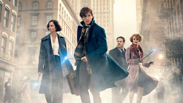"""One of the promotional posters for """"Fantastic Beasts"""