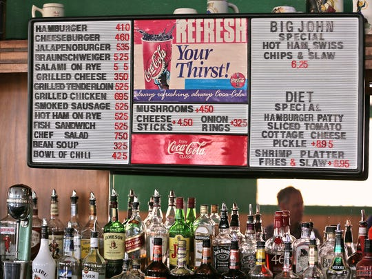 A variety of foods are offered at The Workingman's