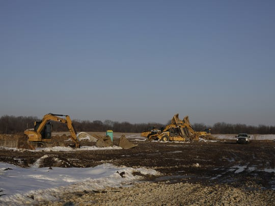 Harvest Park Development seen here, is poised to be one of the largest marijuana grow operations in the state on Creyts Road in Windsor Township, MI, Wednesday, Feb. 14, 2018.