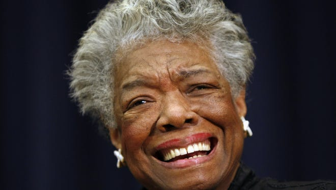 Poet Maya Angelou smiling in Washington. Angelou, a Renaissance woman and cultural pioneer, died in May 2014. She was 86.