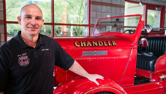 Chandler Fire Chief Jeff Clark at Chandler Fire Department on March 5, 2015.