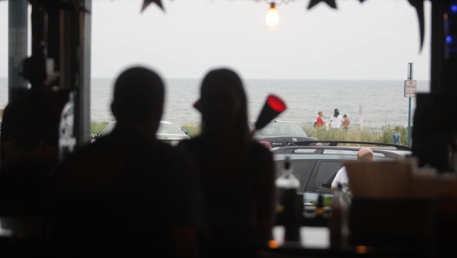 A view of the beach from D'Jais Bar in Belmar.