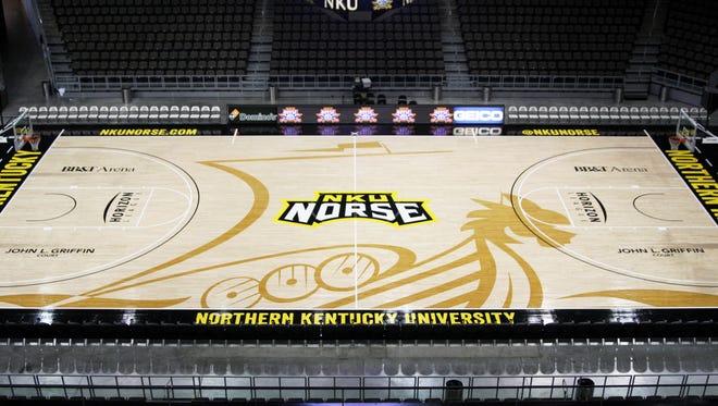 NKU's new court design unveiled Wednesday.