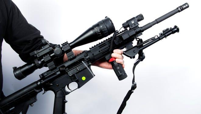 An AR-15 rifle.