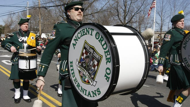 Marchers from the Ancient Order of Hibernians participate in a previous Pearl River's  St. Patrick's Day Parade in this file photo.
