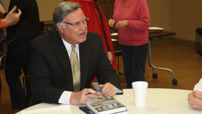"""Steve Flowers shares stories after signing copies of his new book, """"Of Goats & Governors.""""  (Contributed)"""