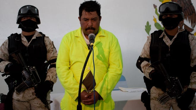 2/26/2010: Alleged hit man Aldo Favio Hernández Lozano, a former municipal police officer, is shown Saturday in Juárez. Officials said Hernández Lozano told authorities that he killed at least one person who tried to escape the Jan. 30 birthday party massacre. He is the third man to be detained in the case.