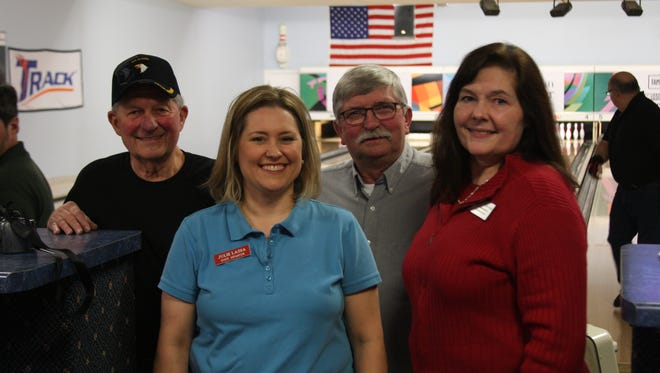 From left: McCoy AUSA chapter president Ray Boland, Sen. Julie Lassa, Rep. Lee Nerison and Rep. Nancy VanderMeer.