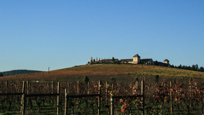 King Estate rises atop a vineyard-covered hill in the Lorane Valley outside of Eugene.