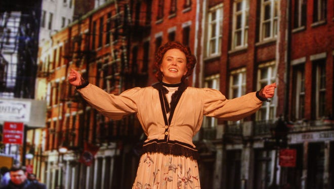 """When Rory Wakeford as Dolly Gallagher Levi heads off to the 14th Street Parade in Brewster High School's production of """"Hello, Dolly!"""" this weekend, the backdrop behind her will be a massive LED screen that shifts scenes effortlessly."""