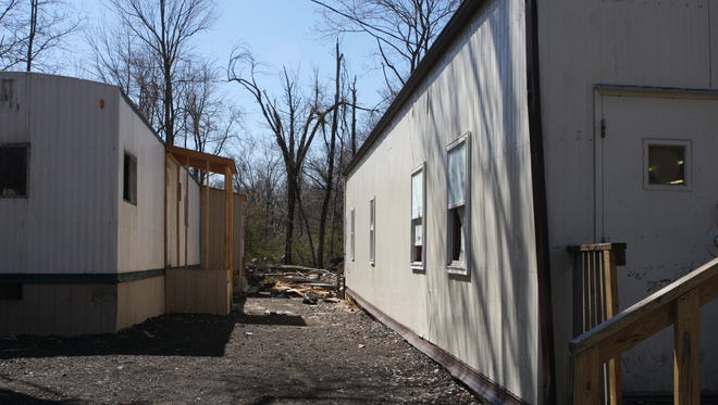 Trailers at a yeshiva at 33 Forshay Road in Ramapo.