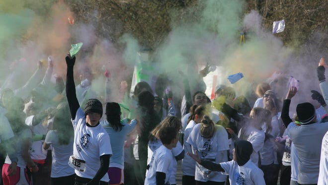 The Color Vibe Run at Beachaven Winery this weekend will raise money for Montgomery County Friends of the Shelter.