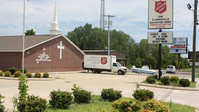 The Clarksville Salvation Army's emergency shelter, at 210 Kraft St.