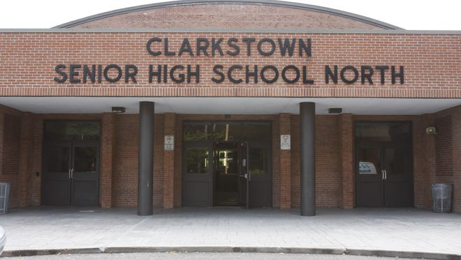 Clarkstown North High School, where high lead levels were found in some water fountains.