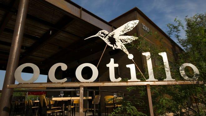 The outdoor patio at Ocotillo restaurant in Phoenix.
