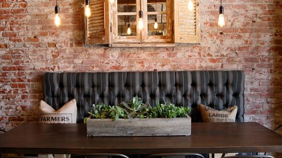 One of the places for customers to cozy-up at the Farmers Union Pour House.