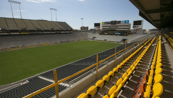 VIP seating on the west side of Sun Devil Stadium as seen during a tour of Sun Devil Stadium in Tempe, as the end of Phase two renovations are nearing completion on Tuesday, August 23, 2016.