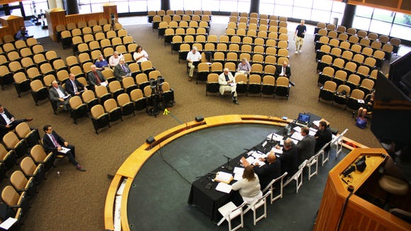 About two dozen people, including staff members, were on hand for the Aug. 30 meeting of the state Gaming Commission in Saratoga Springs.