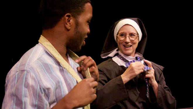 """Jared Giles and Rena Cherry Brown in Theatre 502's production of """"River City by Diana Grisanti."""