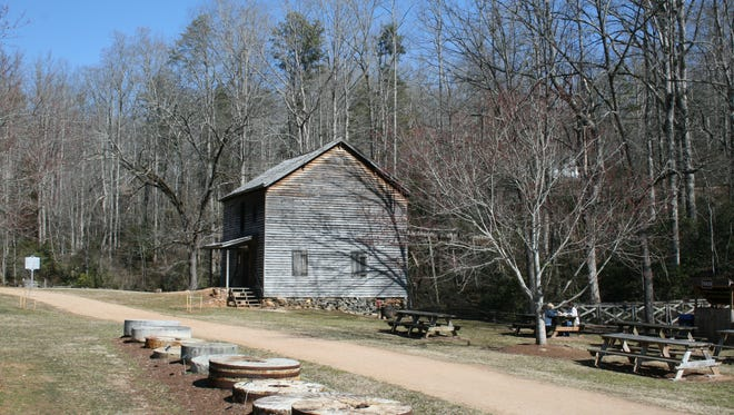 The view as you walk into the Hagood Mill Historic Site in Pickens.