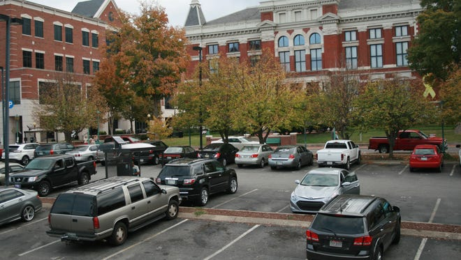 The parking lot in front of Montgomery County Court will be closed on Oct. 27 and Oct. 28.