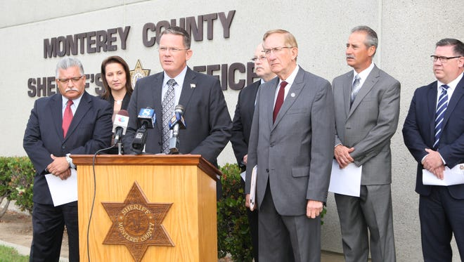 Monterey County Sheriff Steve Bernal, District Attorney Dean Flippo and local police chiefs spoke out about Prop 57 in a press conference last week.