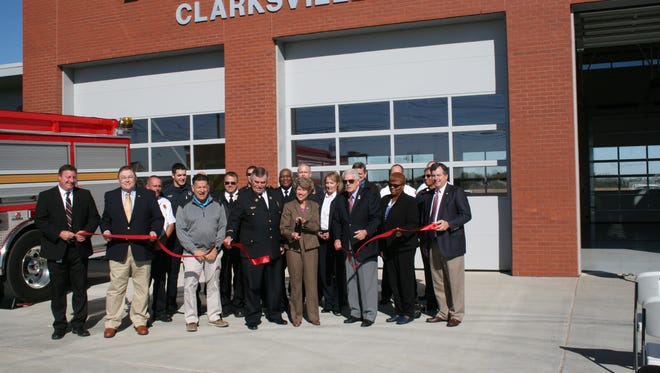 A ribbon cutting  ceremony was conducted at 10 a.m. Thursday, Nov. 10 at Clarksville Fire Rescue Station 11, 945 Tylertown Road. The station will open Nov. 29 and serve the rapidly growing area around Exit 1.