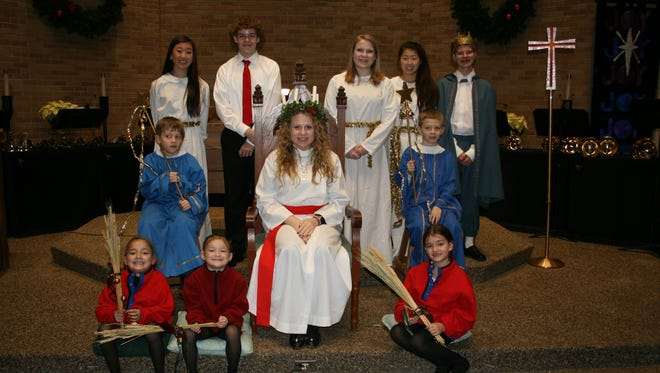 The Santa Lucia court gathered at the 2015 Festival of Lights at Salem Lutheran Church.