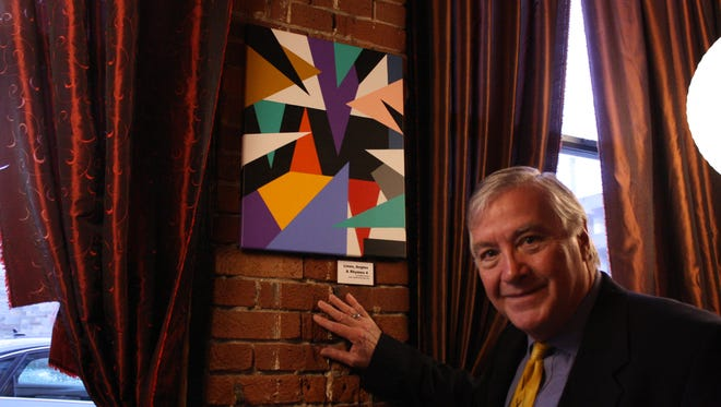 Robert Hoover has shown his art in 18 First Fridays, including at the Lost Dog Café in December.