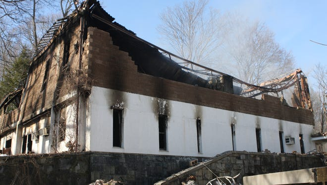 A school building was destroyed by a fire at a New Castle yeshiva on Feb. 17, 2017.
