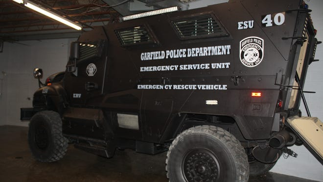 The Garfield Police Department received a mine-resistant armored vehicle that will be used for emergency situations like flooding.