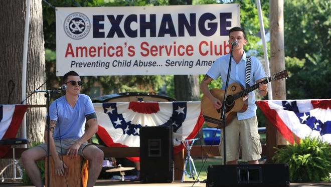 The Davenport Twins, who placed second in the competition, perform at the 2016 Fremont's Got Talent event, at Birchard Park.