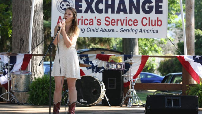 Grace Finsel, of Fostoria, performs at the 2016 Fremont's Got Talent event at Birchard Park. The event returns this year as part of the annual Mayor's Concert Series in the Park. The first concert of the series will be held Sunday at 7 p.m. at Birchard Park.