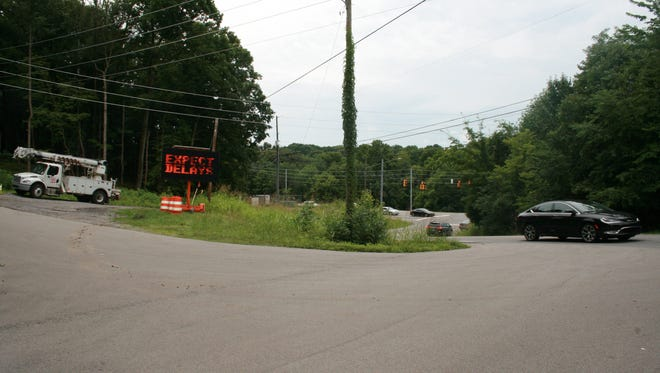 The intersection with Dunbar Cave Road will be improved as part of the Warfield Boulevard widening project.