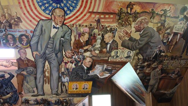 A mural of Eugene Debs in Terre Haute.