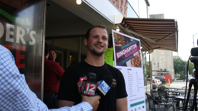 Alexander Nichols, owner and operator of Alexander's Cafe, is a participant in Binghamton Restaurant Week Fall 2017.