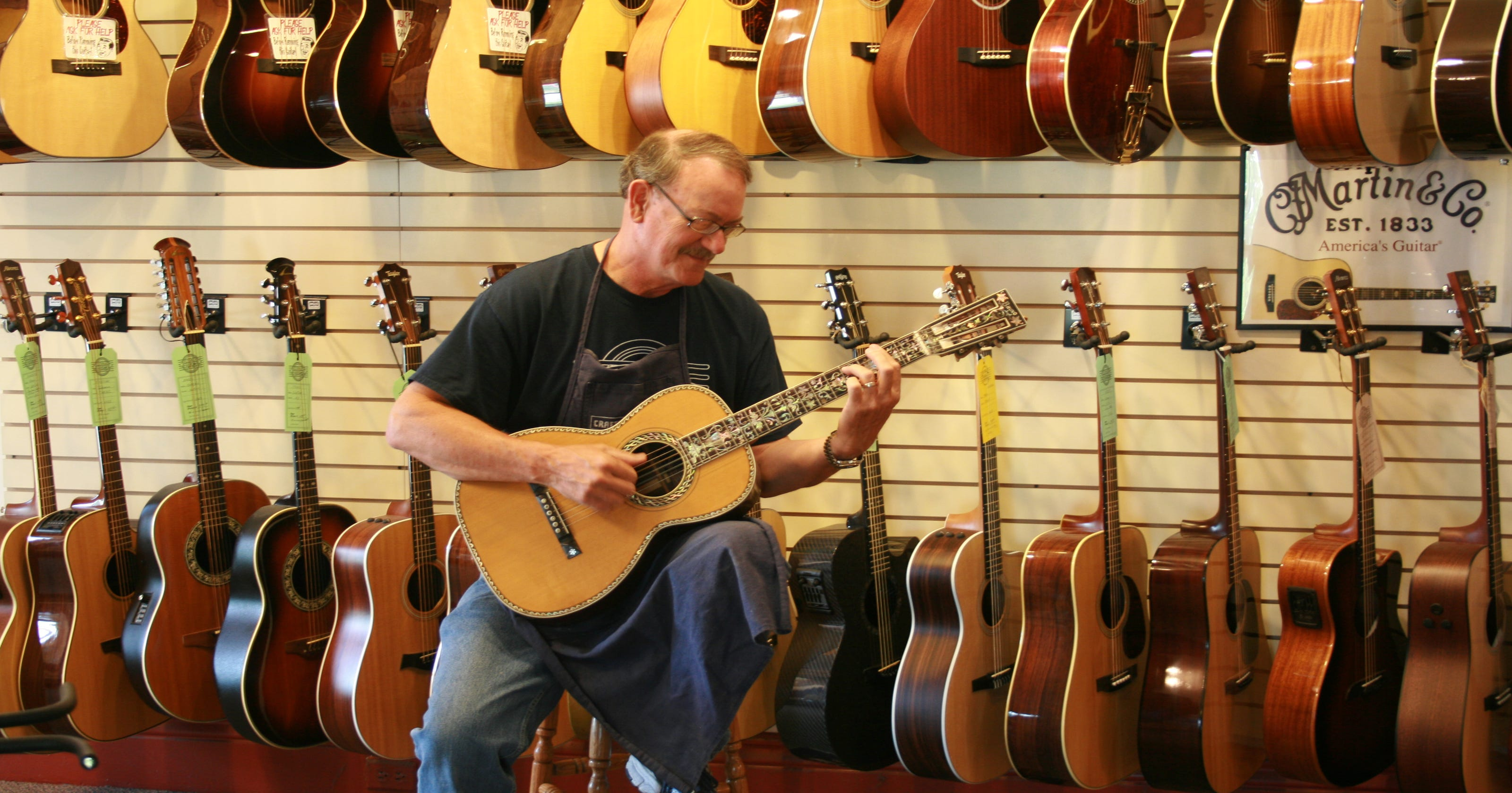 Stutzman's Guitar Center in Greece started with David