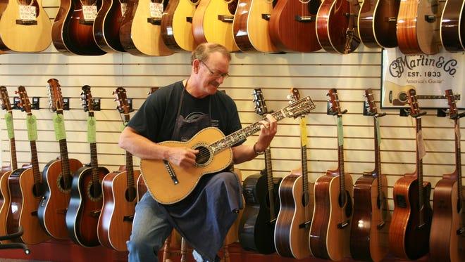 David Stutzman of Stutzman's Guitar Center in Greece.