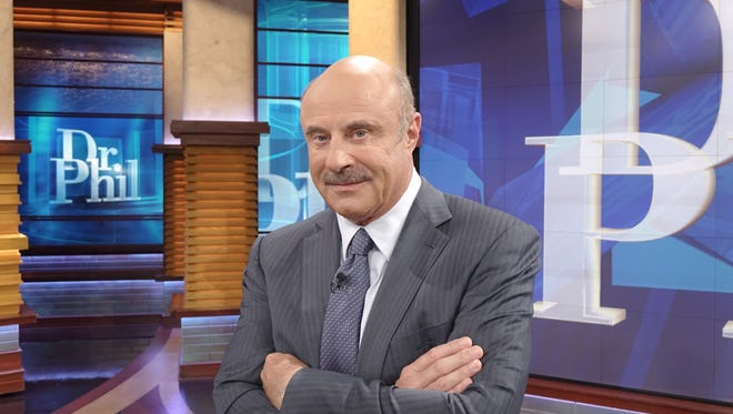 TV's 'Dr. Phil,' Phil McGraw, on the set of his syndicated TV talk show.