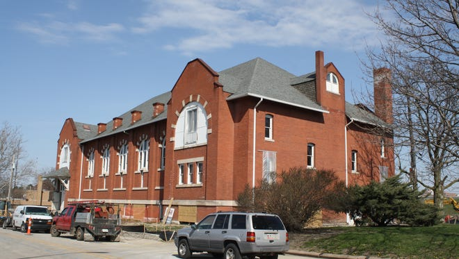 The old Turnverein building on Indy's Southside is being rehabbed as a corporate headquarters.