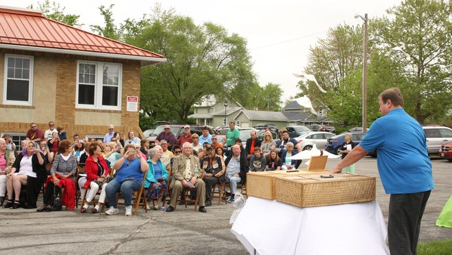 "The ""Wings of Love"" dove release ceremony was held Sunday at ProMedica Hospice in Clyde."