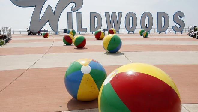 The famous Wildwoods sign is seen on the boardwalk in Wildwood, New Jersey. Wildwoods consists of Wildwood, Wildwood Crest and North Wildwood.