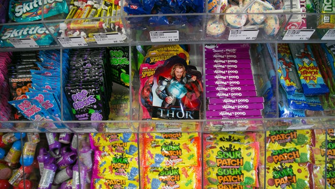 A Mill Avenue hot spot, Candy Addict, offers many types of delicious candies and treats in Tempe, AZ on Friday, Oct. 24, 2014.