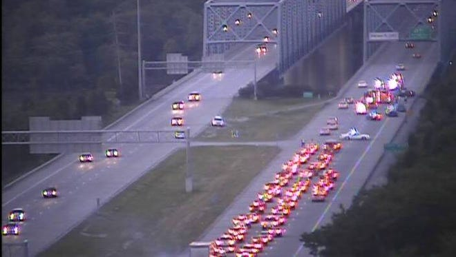 A wreck shut down this stretch of eastbound Interstate 275 Friday night.
