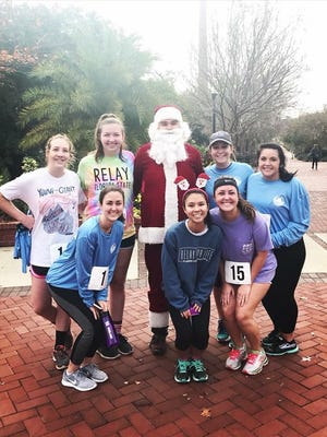 The Santa Sleighs Cancer 5k raised over $2,000.