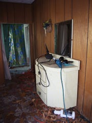 A bedroom inside the tiny house.