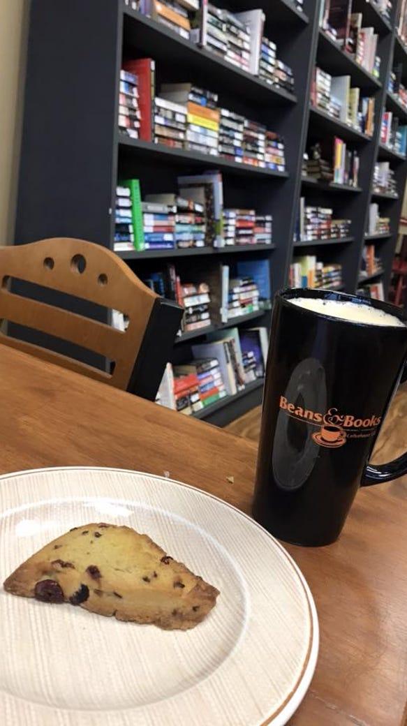 Vanilla latte and cranberry/orange scone hit the spot