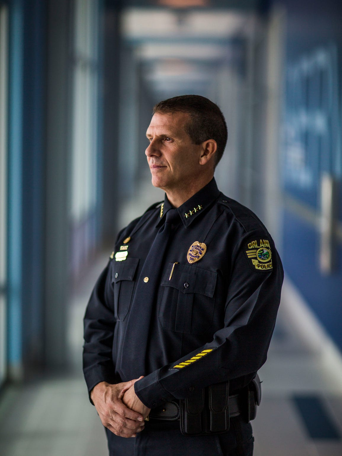 Orlando Chief of Police John Mina is photographed in
