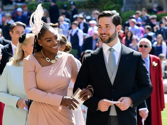 Serena Williams and her husband Alexis Ohanian arrive