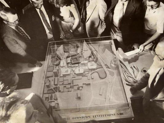 Strouse-Greenberg unveils model of downtown mall, 800730, Ewart Ball.jpg